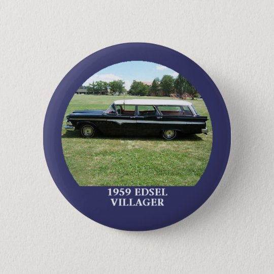 1959 Edsel Villager Station Wagon Button