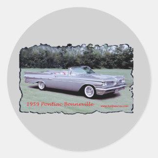 1959_Pontiac_Bonneville Round Sticker