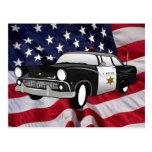 1959 retro state Police Postcard
