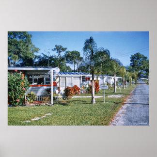 1959 Retro Trailer Park St Petersburg Florida Poster