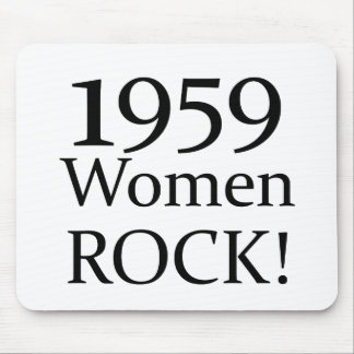 1959 Women Rock! Mouse Mat