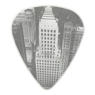 1960:  An aerial view of a Chicago skyscraper Acetal Guitar Pick