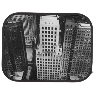 1960:  An aerial view of a Chicago skyscraper Car Mat