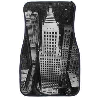 1960:  An aerial view of a Chicago skyscraper Car Mat
