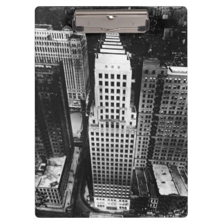 1960:  An aerial view of a Chicago skyscraper Clipboard