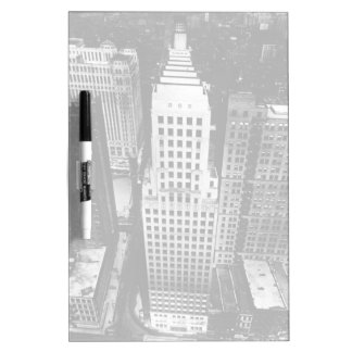 1960:  An aerial view of a Chicago skyscraper Dry Erase Board
