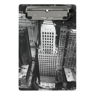 1960:  An aerial view of a Chicago skyscraper Mini Clipboard