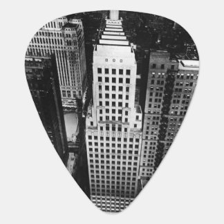 1960:  An aerial view of a Chicago skyscraper Plectrum