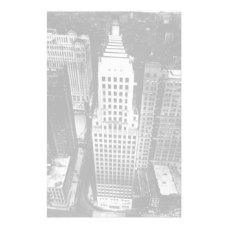 1960:  An aerial view of a Chicago skyscraper Stationery