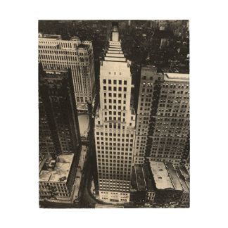 1960:  An aerial view of a Chicago skyscraper Wood Wall Decor