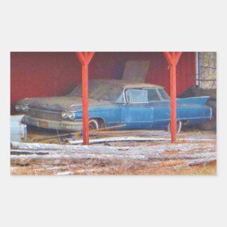 1960 BLUE SADAND DEVILLE Antique car Stickers