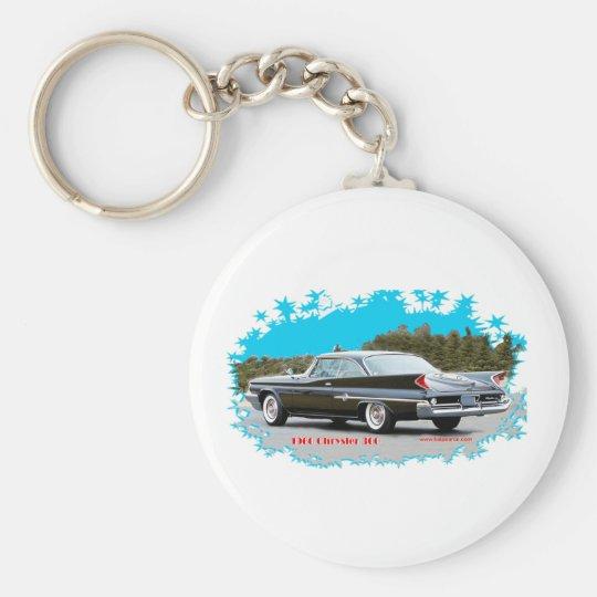 1960_Chrysler_300 Basic Round Button Key Ring