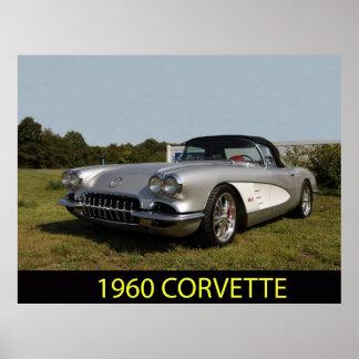 1960 corvette poster