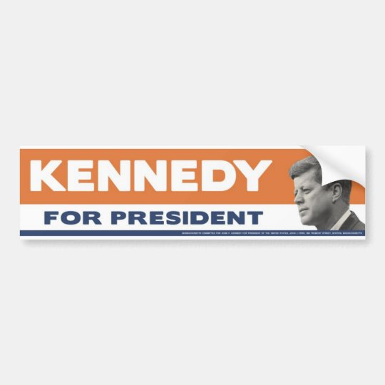 1960 John F. Kennedy For President Bumper Sticker