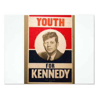 1960 Kennedy 11 Cm X 14 Cm Invitation Card