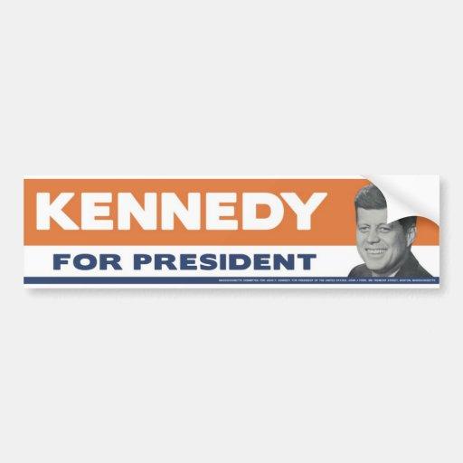 1960 Kennedy For President Bumper Sticker