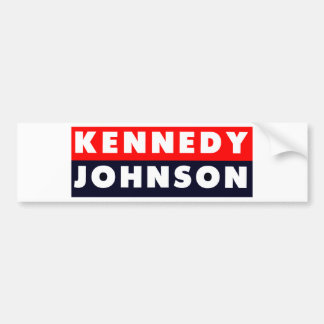 1960 Kennedy Johnson Bumper Sticker
