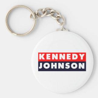 1960 Kennedy Johnson Bumper Sticker Key Chain