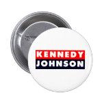 1960 Kennedy Johnson Bumper Sticker Pin