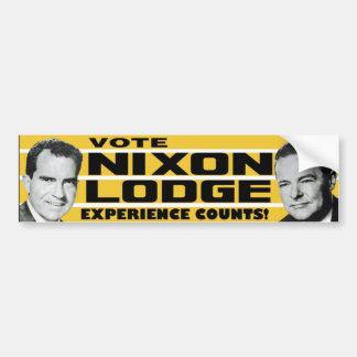 1960 Nixon Lodge Experience Counts Bumper Sticker