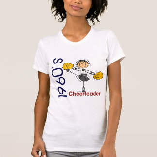 1960's Cheerleader Stick Figure T-Shirt