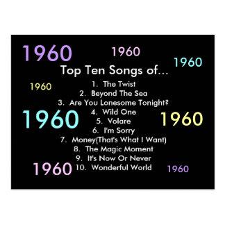 1960 Songs Postcard