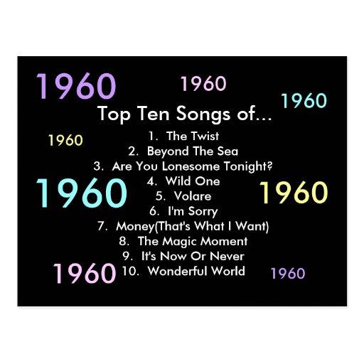 1960 Songs Post Card