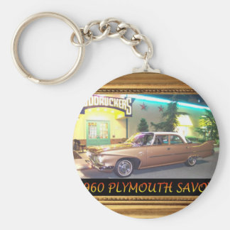 1960PlymouthWithFrameAndText2LG.JPG Key Ring