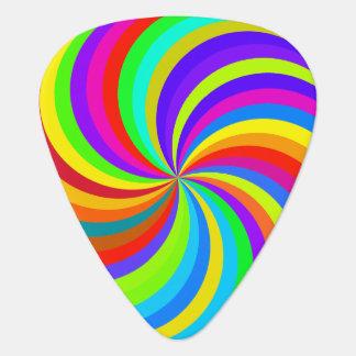 1960s Hippie Pinwheel Art Guitar Pick