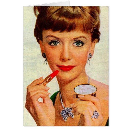 1960s lipstick lady card