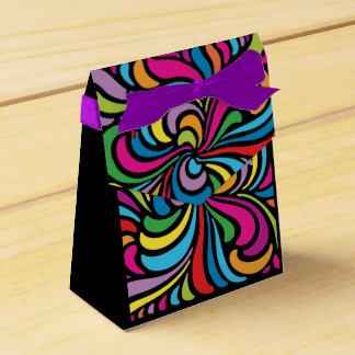 1960s Psychedelic Abstract Swirl Pattern Favour Box