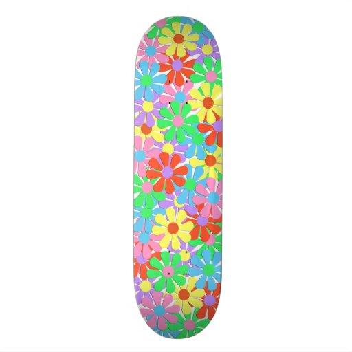 1960's Retro Flower Power Skateboard