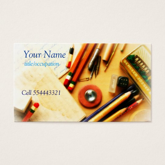 1960's retro stationery business card