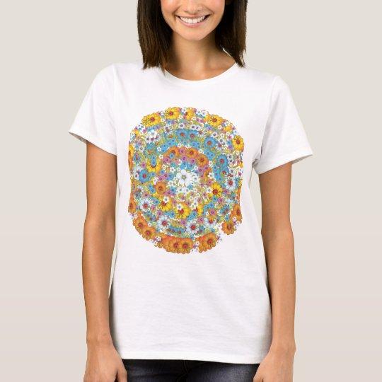 1960s vintage floral flower pattern T-Shirt