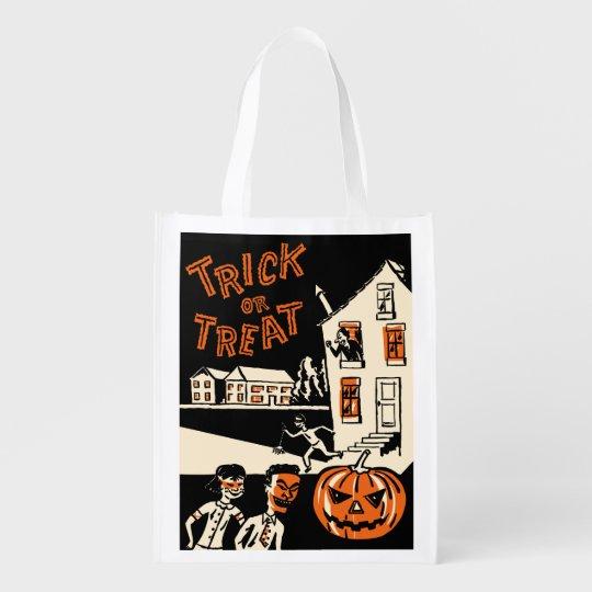 1960s Vintage Halloween Treat Bag