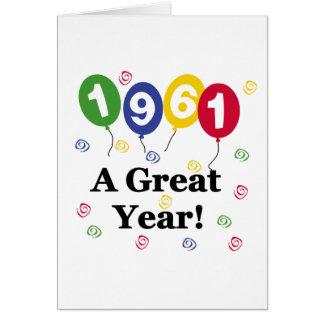 1961 A Great Year Birthday Greeting Card