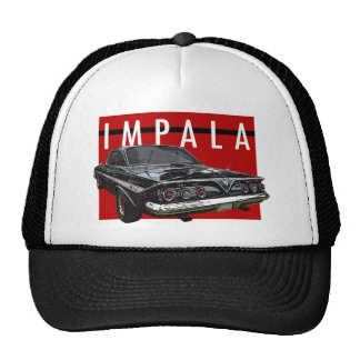 1961 Black Chevy Impala Bubble Top Rear View Cap