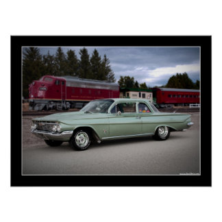 1961 Chevy Biscayne Classic Car Poster