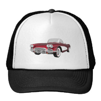 1961 Corvette C1: Candy Apple Finish: Hats