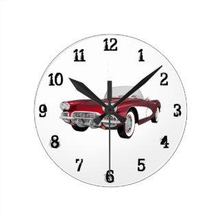 Classic Car Wall Clocks Zazzle Co Uk