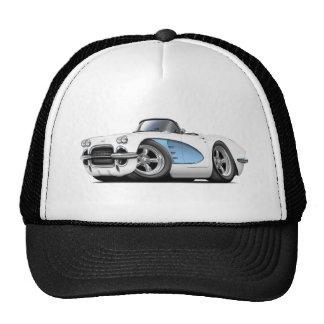 1961 Corvette White-Blue Convertible Cap