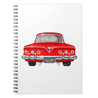 1961 Red Chevrolet Spiral Notebooks