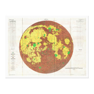 1961 U.S.G.S. Photogeologic Map of the Moon Stretched Canvas Prints
