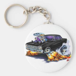 1962-65 Nova Black Car Key Ring
