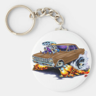 1962-65 Nova Brown Car Basic Round Button Key Ring