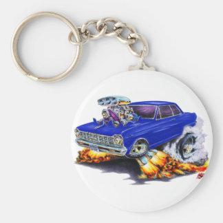 1962-65 Nova Dark Blue Car Basic Round Button Key Ring