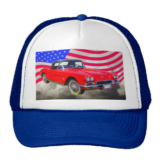 1962 Chevrolet Corvette With United States Flag Hat