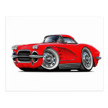 1962 Corvette Red Car Postcards
