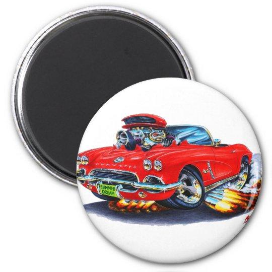 1962 Corvette Red Convertible Magnet