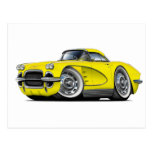 1962 Corvette Yellow Car Postcard